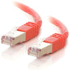 C2G-14ft Cat5e Molded Shielded (STP) Network Patch Cable - Red