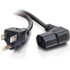 C2G 14ft 18 AWG Universal Right Angle Power Cord (NEMA 5-15P to IEC320C13R)