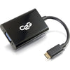 C2G 8in HDMI Mini to VGA and Audio Adapter Converter Dongle - Black