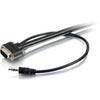 C2G 3ft Select VGA + 3.5mm Stereo Audio Cable - In-Wall CMG-Rated VGA Cable
