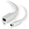 C2G 6ft Mini DisplayPort Extension Cable M/F - White