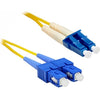 ENET 7M SC/LC Duplex Single-mode 9/125 OS1 or Better Yellow Fiber Patch Cable 7 meter SC-LC Individually Tested