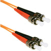 ENET 2M ST/ST Duplex Multimode 50/125 OM2 or Better Orange Fiber Patch Cable 2 meter SC-ST Individually Tested