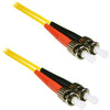 ENET 7M ST/ST Duplex Single-mode 9/125 OS1 or Better Yellow Fiber Patch Cable 7 meter ST-ST Individually Tested