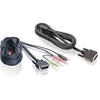 IOGEAR 6 Ft. Dual View Dual-Link DVI, USB KVM Cable Kit with Audio (TAA Compliant)