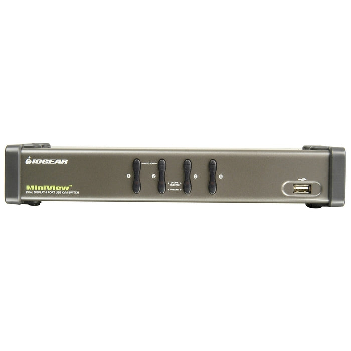 IOGEAR MiniView GCS1744 4-Port Dual View KVM Switch