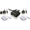 IOGEAR 2-Port USB DVI Cable KVM with MiniDisplayPort Adapters Bundle
