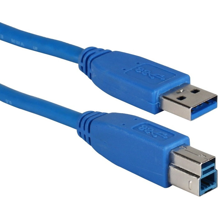 QVS USB 3.0 Compliant 5Gbps Type A Male to B Male Cable