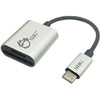 SIIG USB-C 2-in-1 Card Reader for SD & Micro SD - Silver
