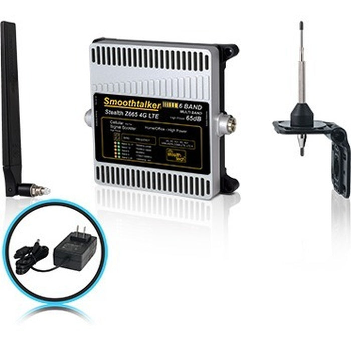 Smoothtalker Stealth Z6 65dB 4G LTE High Power 6 Band Cellular Signal Booster Kit