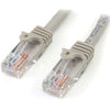 StarTech.com 10 ft Gray Snagless Cat5e UTP Patch Cable