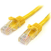 StarTech.com 10 ft Yellow Snagless Cat5e UTP Patch Cable