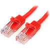 StarTech.com 15 ft Red Snagless Cat5e UTP Patch Cable