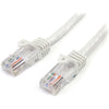 StarTech.com 15 ft White 15 ft White Snagless Cat5e UTP Patch Cable Patch Cable