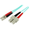 StarTech.com 10m Fiber Optic Cable - 10 Gb Aqua - Multimode Duplex 50/125 - LSZH - LC/SC - OM3 - LC to SC Fiber Patch Cable