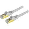 StarTech.com 1 ft Cat6a Patch Cable - Shielded (STP) - Gray - 10Gb Snagless Cat 6a Ethernet Patch Cable