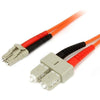 StarTech.com 1m Fiber Optic Cable - Multimode Duplex 62.5/125 - LSZH - LC/SC - OM1 - LC to SC Fiber Patch Cable