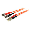 StarTech.com 1m Fiber Optic Cable - Multimode Duplex 62.5/125 - LSZH - LC/ST - OM1 - LC to ST Fiber Patch Cable