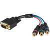 StarTech.com 6in HD15 to Component RCA Breakout Cable Adapter - M/F