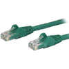 StarTech.com 1ft Green Cat6 Patch Cable with Snagless RJ45 Connectors - Short Ethernet Cable - 1 ft Cat 6 UTP Cable