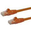 StarTech.com 1ft Orange Cat6 Patch Cable with Snagless RJ45 Connectors - Short Ethernet Cable - 1 ft Cat 6 UTP Cable