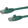 StarTech.com 2ft Green Cat6 Patch Cable with Snagless RJ45 Connectors - Cat6 Ethernet Cable - 2 ft Cat6 UTP Cable