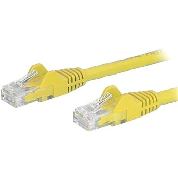 StarTech.com 30ft Yellow Cat6 Patch Cable with Snagless RJ45 Connectors - Long Ethernet Cable - 30 ft Cat 6 UTP Cable