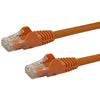 StarTech.com 4ft Orange Cat6 Patch Cable with Snagless RJ45 Connectors - Cat6 Ethernet Cable - 4 ft Cat6 UTP Cable