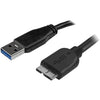 StarTech.com 0.5m (20in) Slim SuperSpeed USB 3.0 A to Micro B Cable - M/M