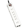Tripp Lite Surge Protector Power Strip 120V RJ11 RT Angle 6 Outlet Metal 15' Crd