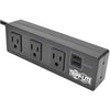 Tripp Lite 3-Outlet Surge Protector Power Strip w/ 2-Port USB Charging Black