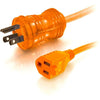 8FT POWER EXTENSION CORD ORANGE - 3-PRONG/3-PIN M/F 16AWG HOSPITAL