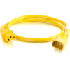 4FT C14 TO C13 18/3 SJT YELLOW -