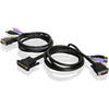 10FT DVI USB KVM CABLE W/ AUDIO - DUAL COMPUTER