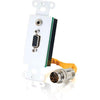 RAPIDRUN HD15 + 3.5MM STEREO AUDIO WALL PLATE - WHITE