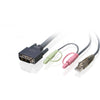IOGEARS DVI-D SINGLE LINK, USB 2.0 KVM CABLE PROVIDES SIXTEEN FEET OF DIGITAL VI