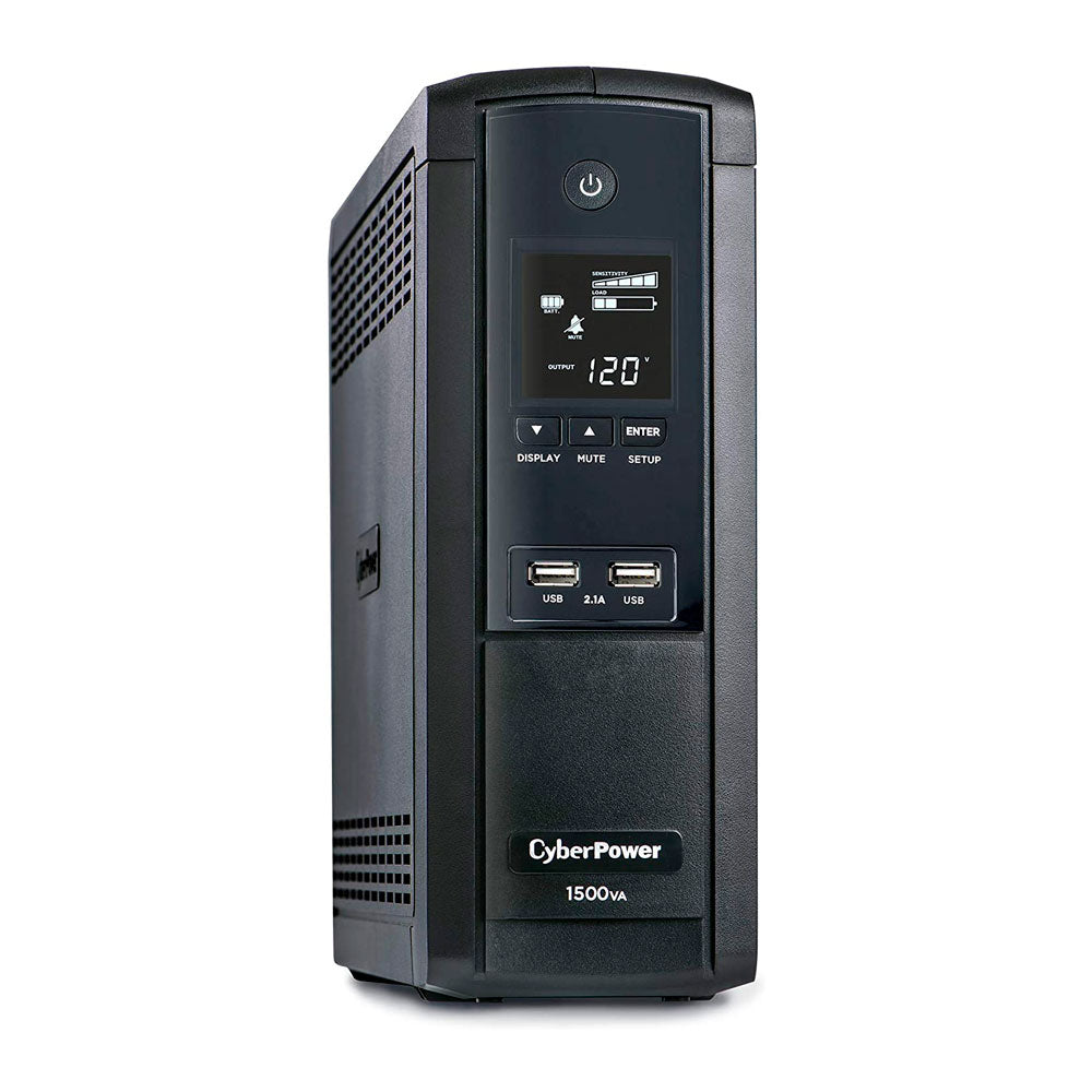 CyberPower Intelligent LCD Series BRG1500AVRLCD 1500VA 900W UPS with 2.1 USB Charging