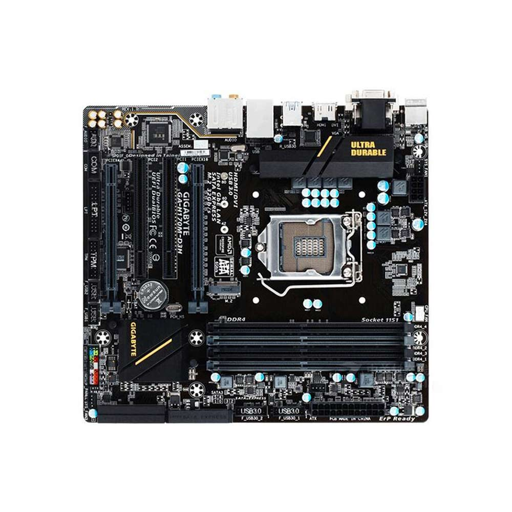 Tarjeta Madre Gigabyte Ultra Durable GA-H170M-D3H - Intel Chipset - Socket H4 LGA-1151