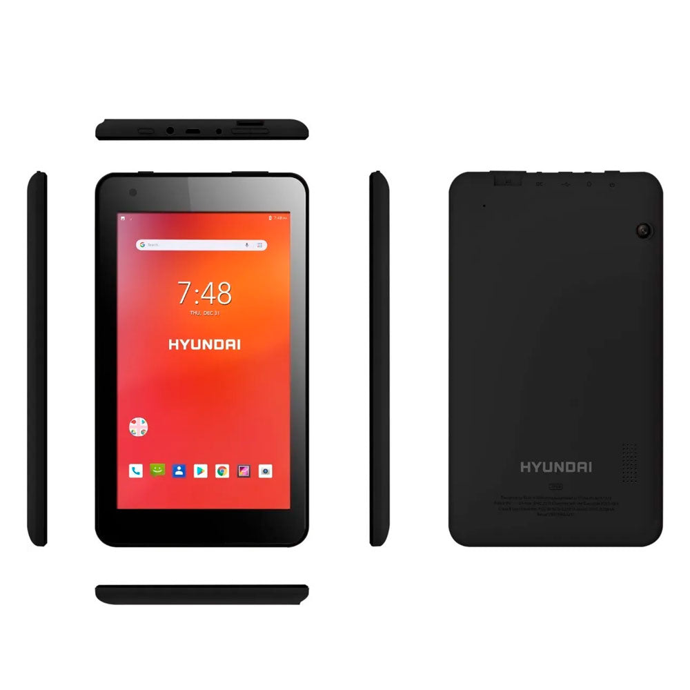 "Hyundai Koral 7W4 Tablet - 7"" IPS - 1/8 GB - 2/2MP Android 8.1 Go - Black"