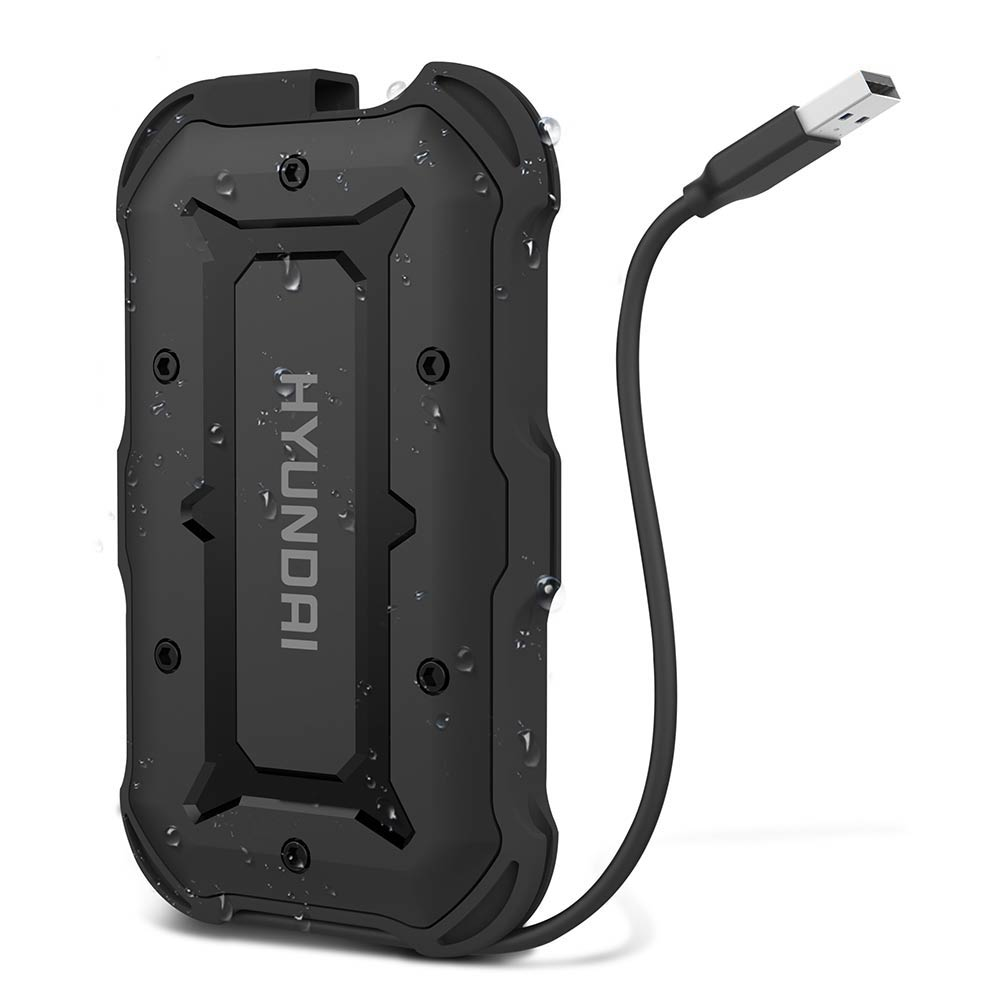 Hyundai 2TB Rugged External Hard Drive - Black
