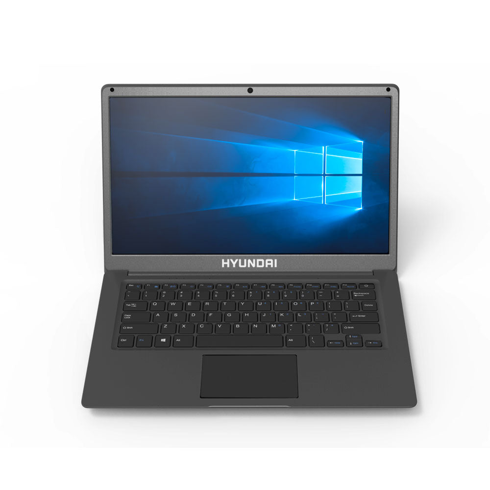 Hyundai Thinnote-A - 1366x768 TN, Intel N3350, 4GB / 64GB + HDD Slot, 0.3MP, RJ45, 7.4V / 5000mAh, Windows 10 Home S Mode, Plastic English - Space Grey