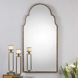 Tall Gold Arch Mirror