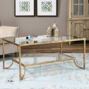 Gold Leaf Iron Coffee Table