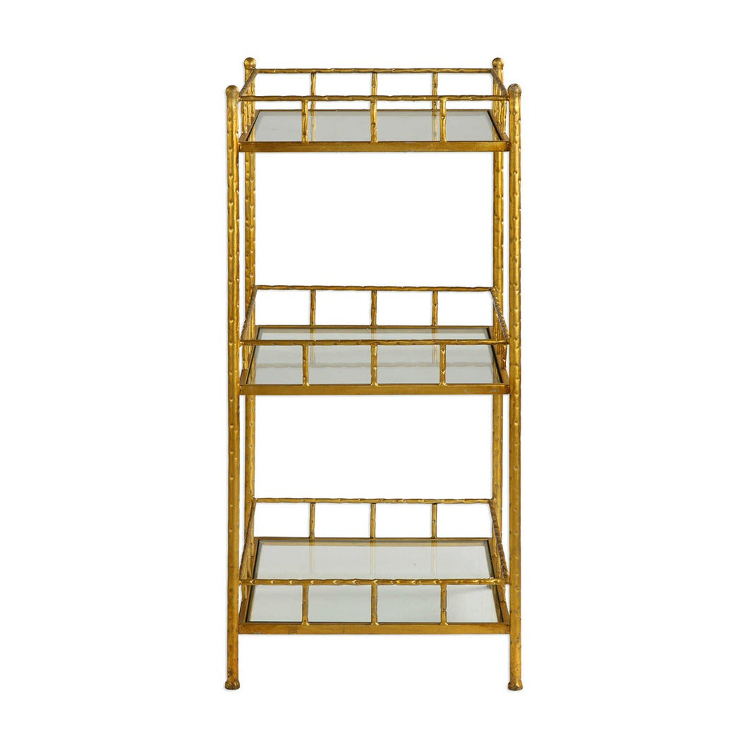 Gold Bamboo Accent Shelf