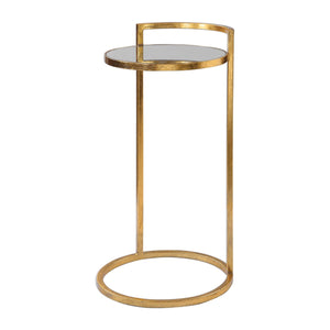 Circle Gold Accent Table