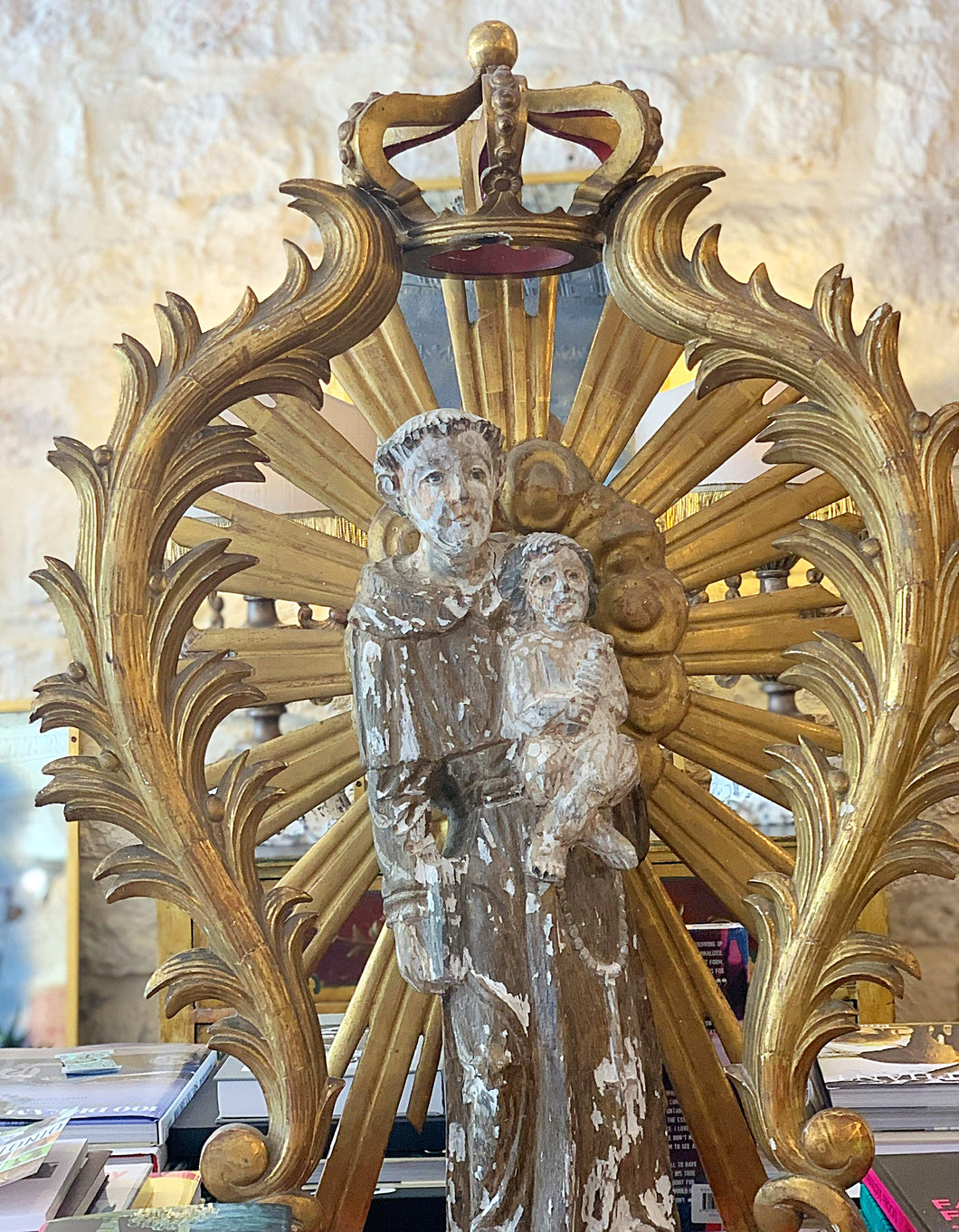 Saint Anthony Statue and Alter Piece