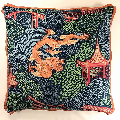Navy's Red Dragon Pillow