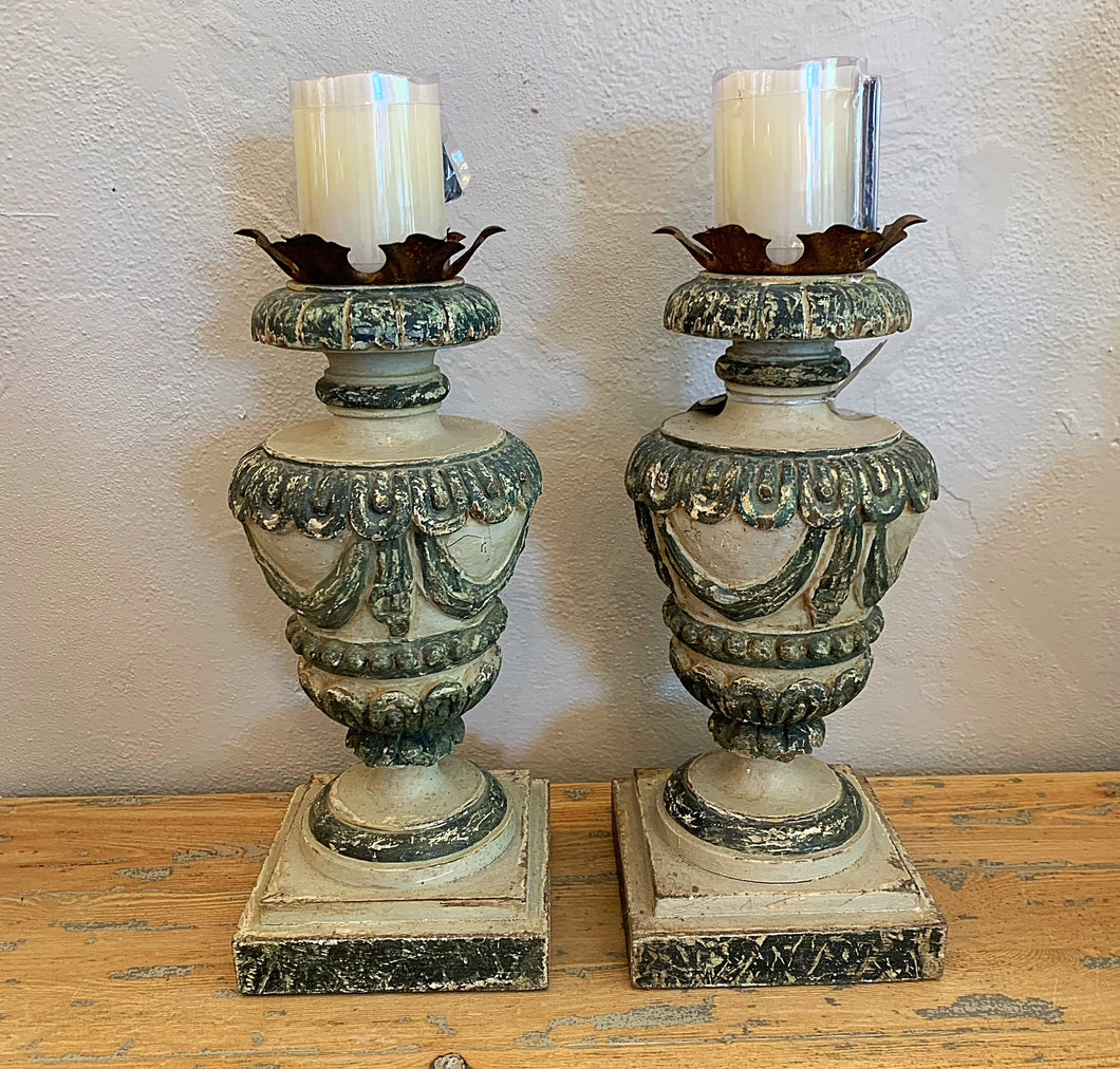 French Alter Candlesticks, Pair