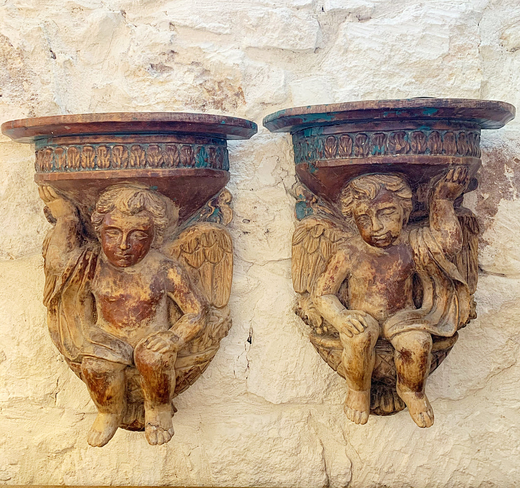 Pair of Angel Brackets