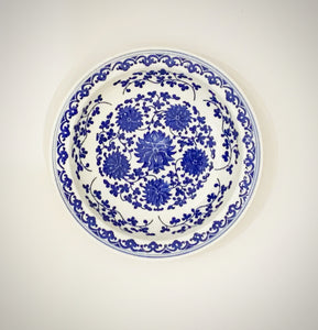 Assorted Blue and White Plates